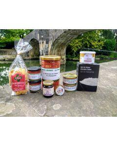 Notre box panier, abonnement mensuel panier du mois avec une sélection de produits artisanaux du Pays Basque