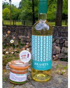 Petit Sac gastronomique - Vin blanc Josaleta Navarre - Foie gras - Paté et rillettes - Pays Basque